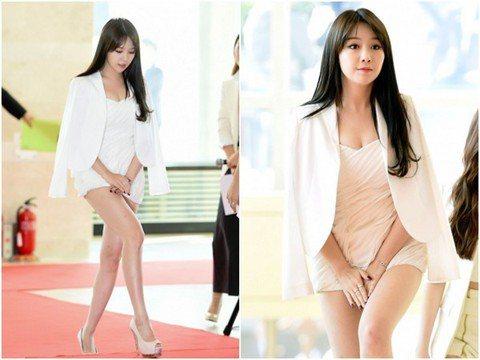 南韓女團「Girls Day」擁有甜美外表、性感身材,加上火辣舞蹈的熱力,成為人氣居高不下的新一代人氣女團,月初也剛來台灣辦見面會,不過日前成員之一的珉雅出席韓國「大眾文化藝術獎」時,因為穿著太短的...