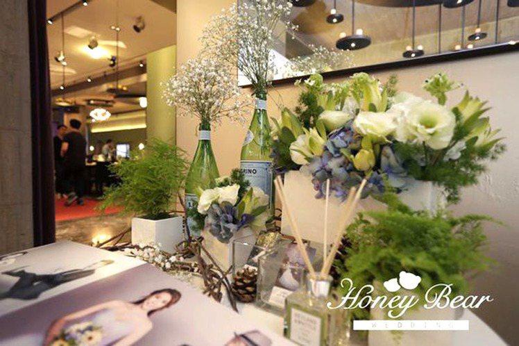 雪松香氛婚禮。圖/哈妮熊幸福工坊提供