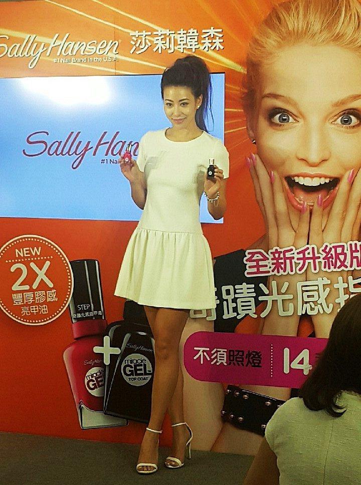 台灣美女歌手蔡詩芸蒞臨現場,本人小臉腿又長相當令人羨慕。圖/記者翁以愛攝影
