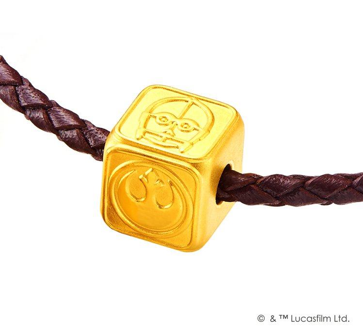 「星際大戰」系列反抗軍黃金路路通串飾 (含皮繩)