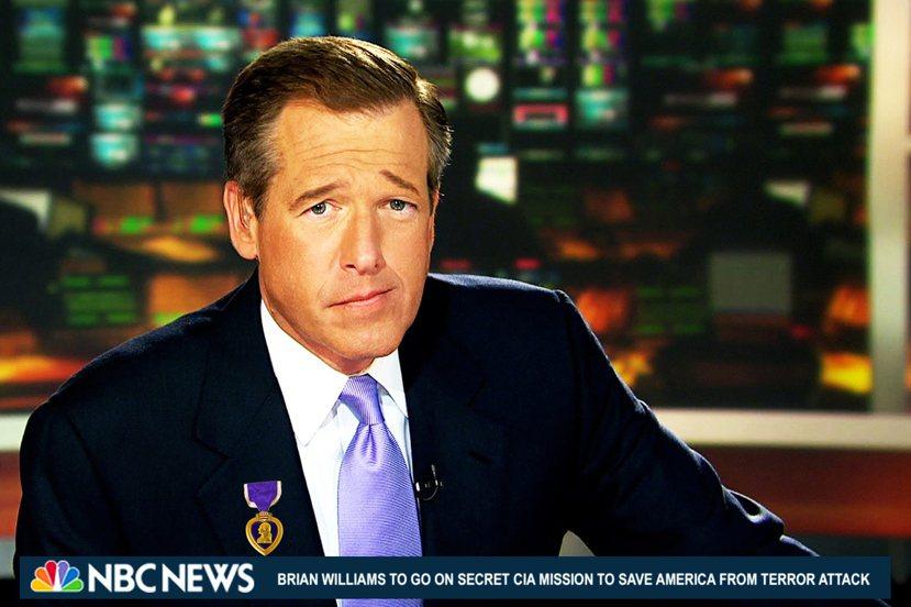 主播威廉斯曾謊稱自己在伊拉克戰爭中死裡逃生,被揭穿後,網路出現許多惡搞圖片;跑馬...