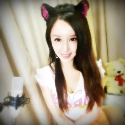 蔡郁璇在視訊主播裡的造型,她形容自己很像狐妖小璃。圖/取自蔡郁璇臉書