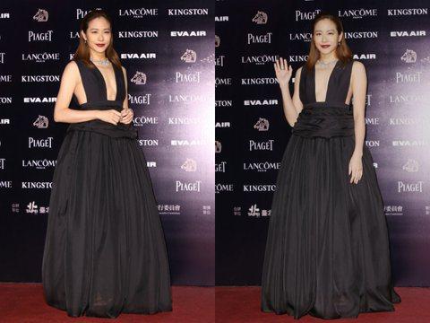 第五十二屆金馬獎晚間登場,以「百日告別」一劇入圍最佳女主角獎的林嘉欣走星光。