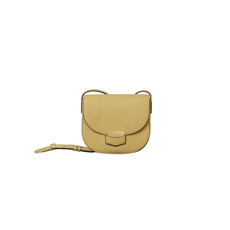 Trotteur香草黃細緻荔枝紋小牛皮肩背包,60,000元。圖CELINE提供