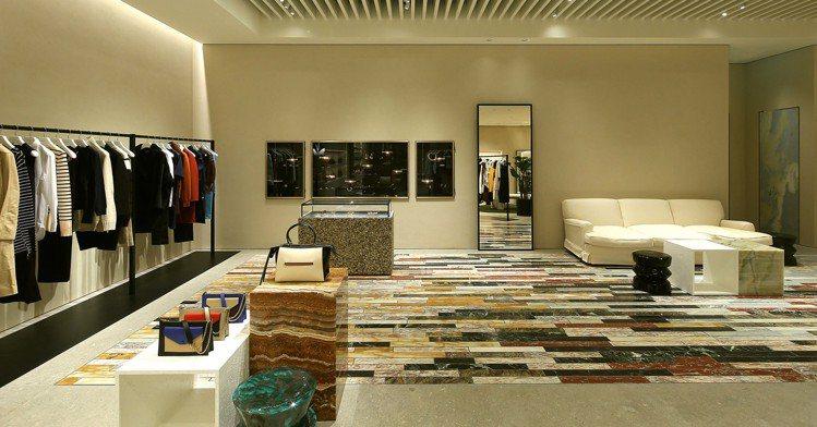 CELINE微風信義店開幕,是全台第一家採用新概念裝潢的專賣店。圖CELINE提...
