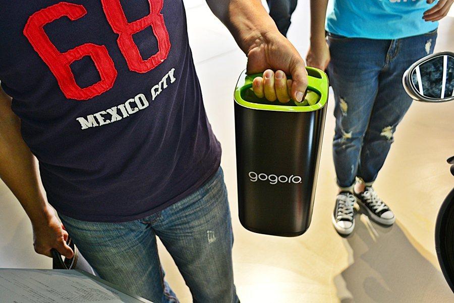 為方便車主用,Gogoro全力推動電池交換服務。 記者趙惠群/攝影