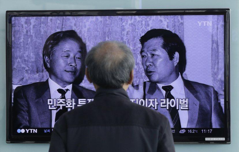 兩金決裂,金泳三(左)與金大中(右):昔日共求民主的兩大山頭,在民主化時代中卻成...