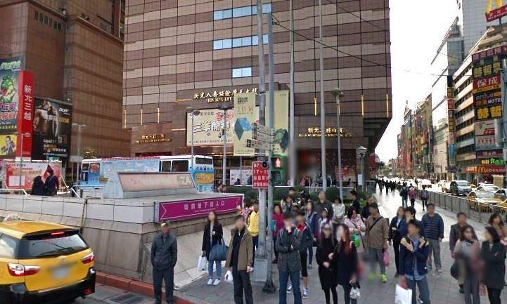 人來人往的台北車站商圈/Google地圖