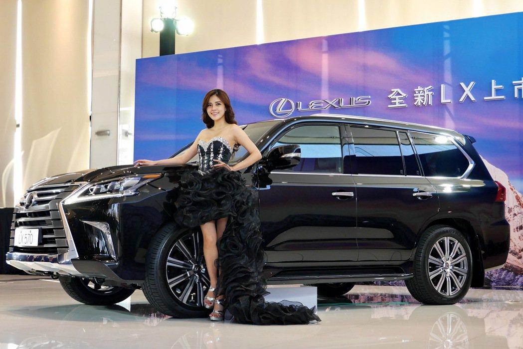 Lexus LX570旗艦休旅,具備霸氣及豪華的質感。 記者陳威任/攝影