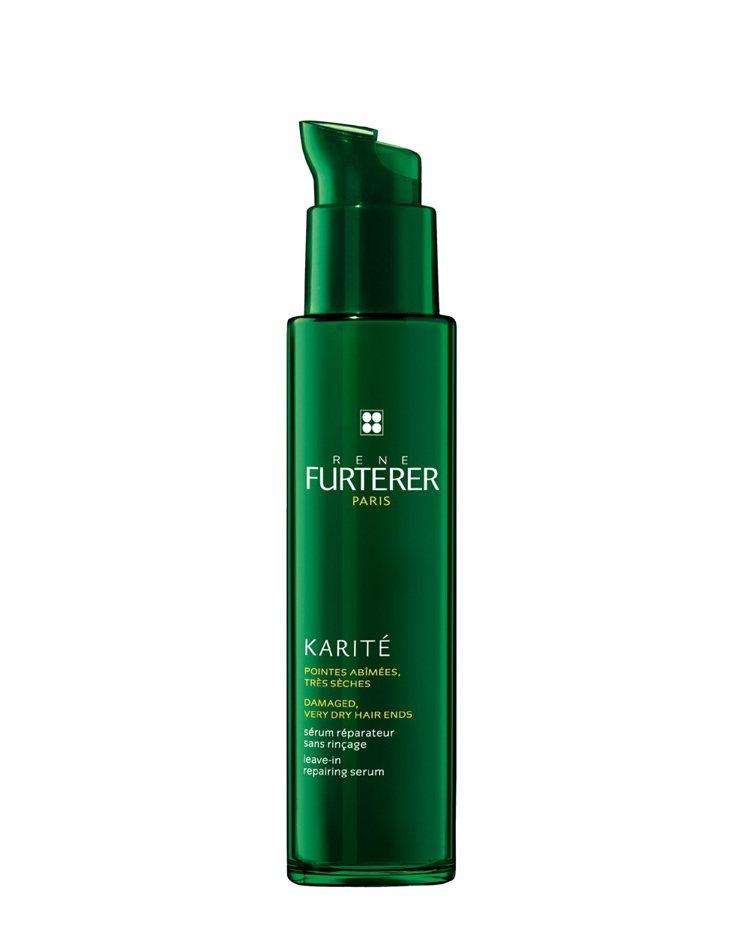 Karite雪亞脂極緻賦活菁露 30ml,是頭髮的精華液。圖/RF荷那法蕊提供