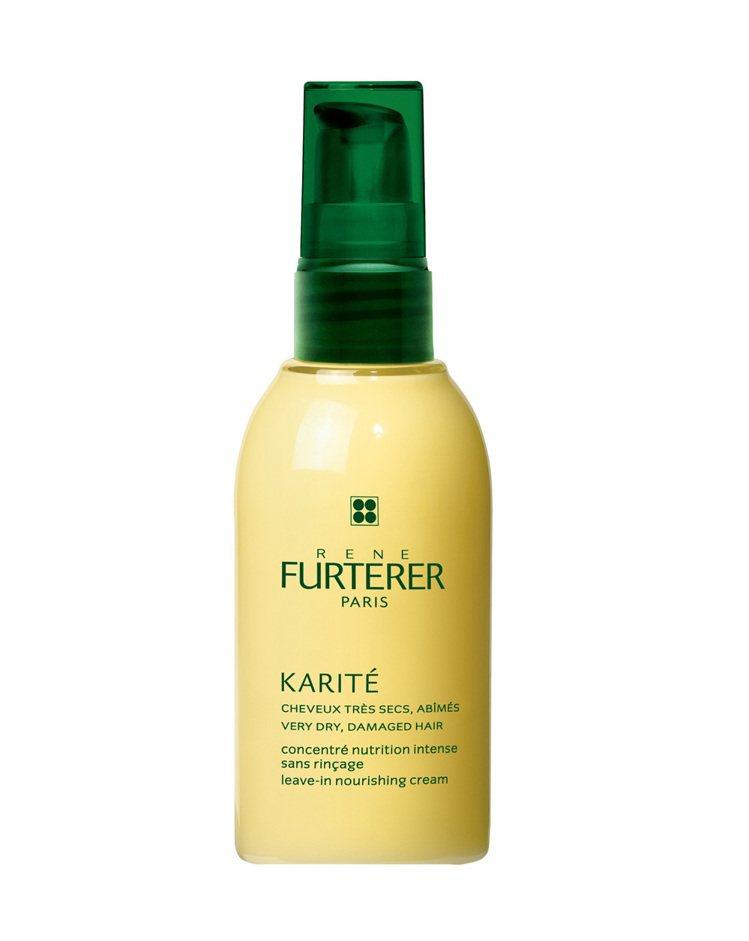 秋冬日間的頭髮保濕潤澤,交給Karite雪亞脂極緻修護乳 100ml。圖/RF荷...