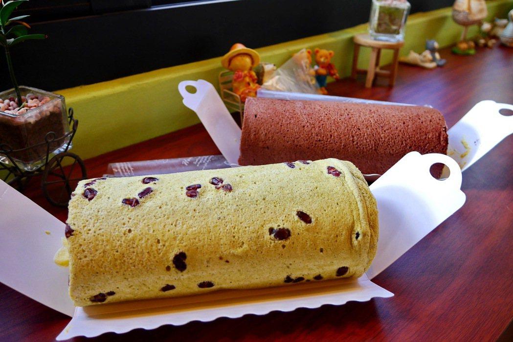 禪屋米胖工坊以純米製作的蛋糕。 記者陳威任/攝影