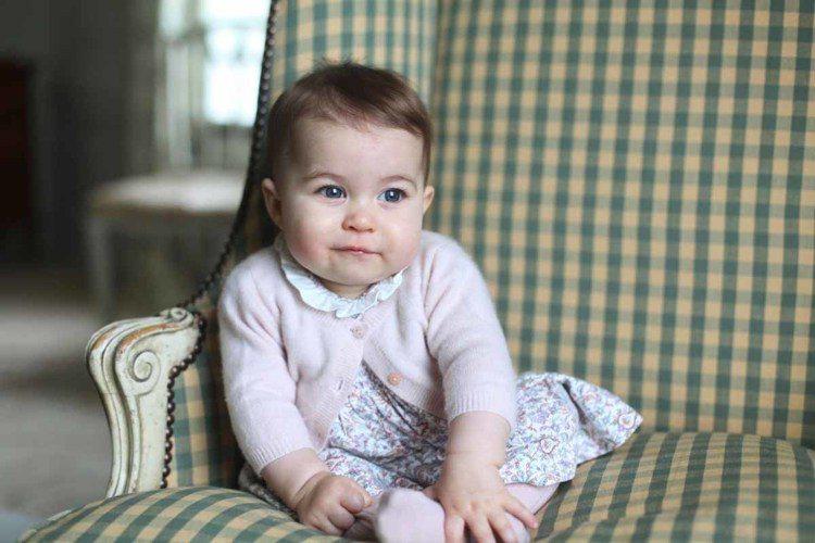 英國皇室夏綠蒂小公主(Princess Charlotte)最新照片曝光。圖/美...