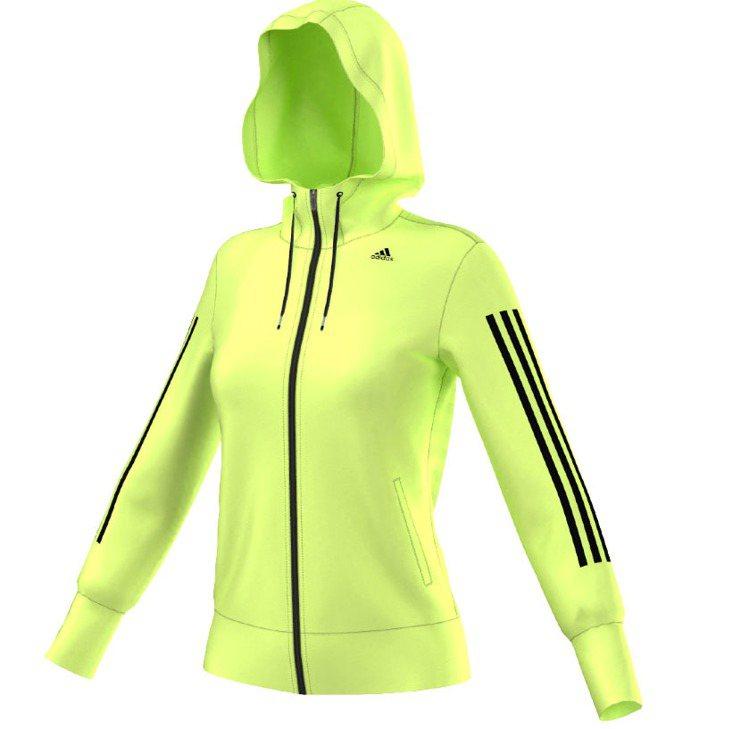 螢光色保暖運動外套,2,490元。圖/adidas提供