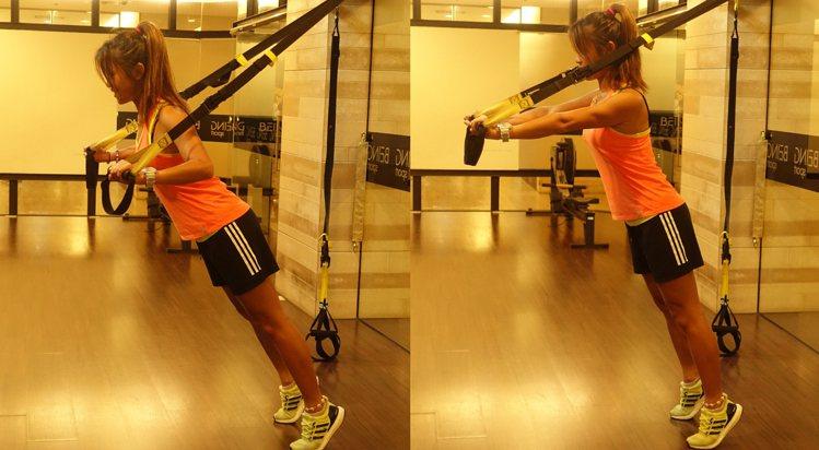 胸大肌訓練,主要使用到弓三頭肌和胸大肌,能讓手臂外側及胸肌線條更明確。