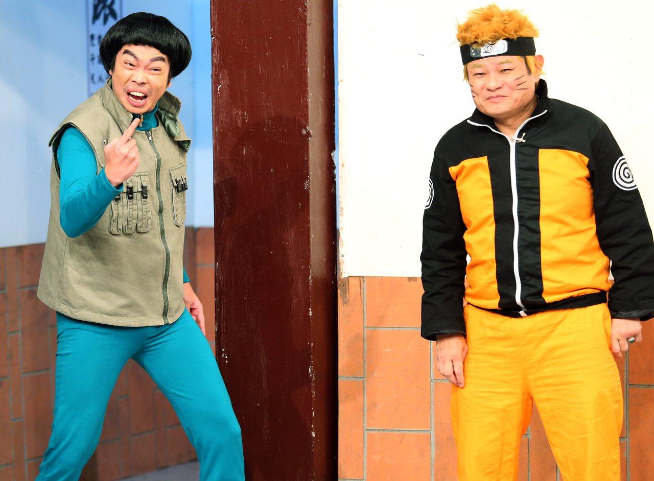 許效舜(右)6年來已成「瘋神」精神領袖,卡古(左)跟在旁邊也學到不少東西。記者陳...