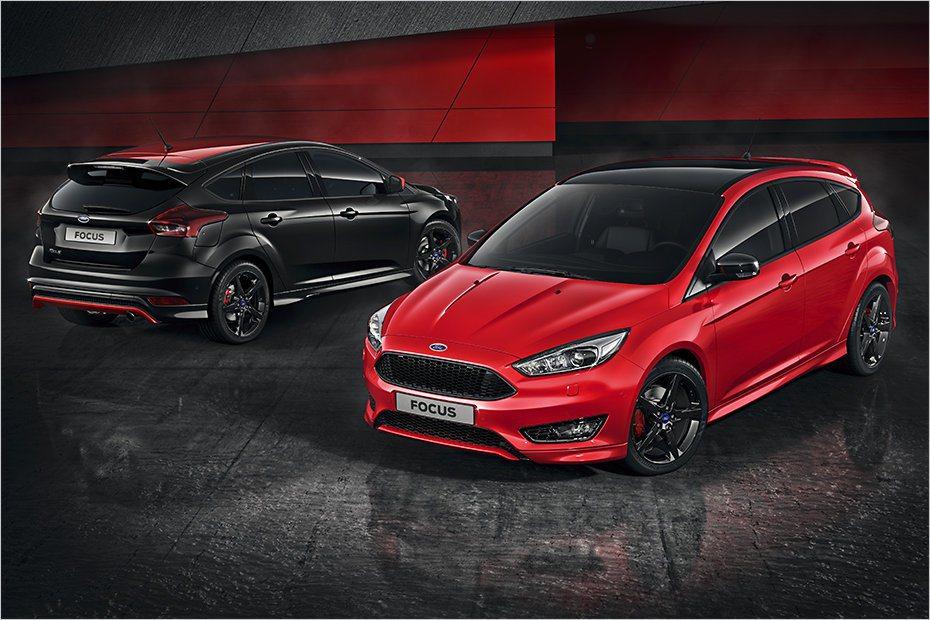全新Focus Sport除了加入紅、黑飾板外,原廠也配上全新18吋黑色烤漆鋁圈...