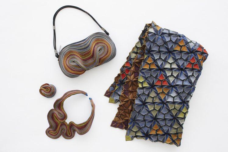 ISSEY MIYAKE以倫敦為主題的Holiday Season飾品及織物。圖...