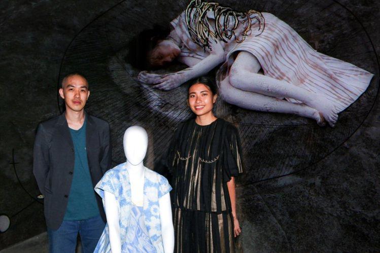 服裝設計師陳劭彥(左)及新加坡藝術家余欣穎。圖/宜蘭縣政府文化局提供