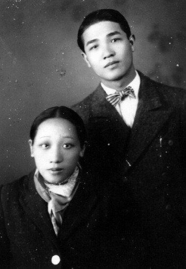 1940年,出奔抵達滿州國奉天時的鍾理和與台妹。 圖/鍾理和文教基金會提供