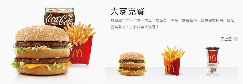 台灣麥當勞官網。