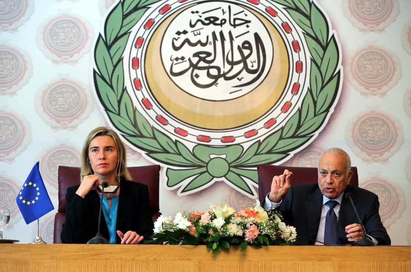 今年11月3日歐盟外交及安全政策高級代表莫格里妮與阿拉伯聯盟(Arab Leag...
