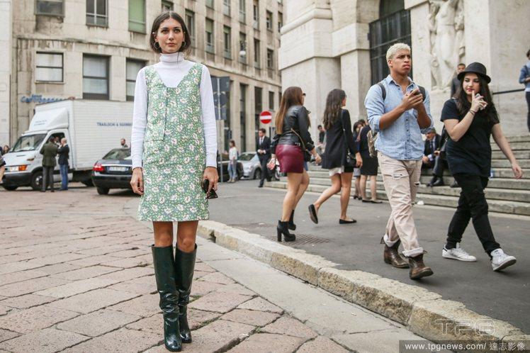 今年的流行以漆皮款為主,帶點未來感的長靴注入滿滿特務風。圖/達志影像