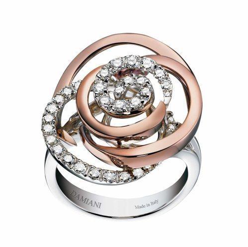 BOCCIOLO系列珠寶戒指,建議售價34萬9,000元。圖/DAMIANI提供