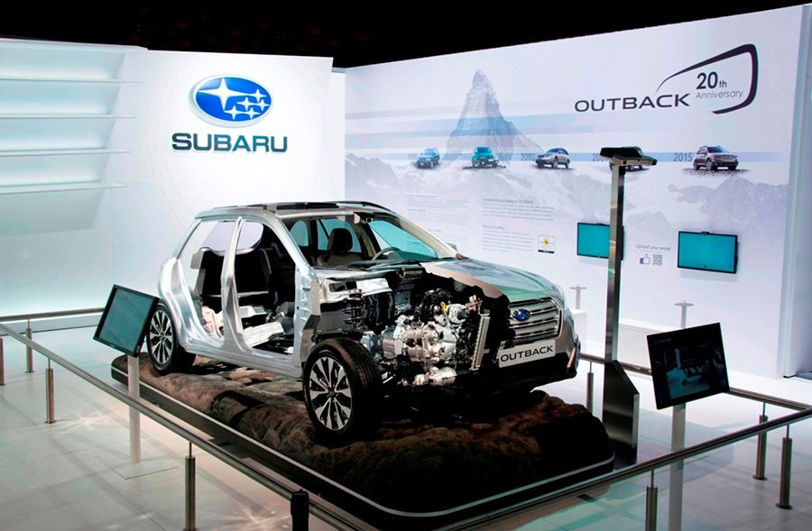 Outback安全結構原型車 Subaru提供