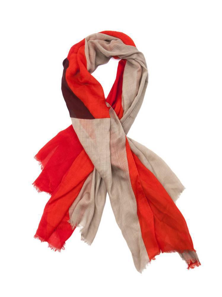 rag & bone色塊拼接羊毛圍巾,售價9,000元。圖/rag & bone...