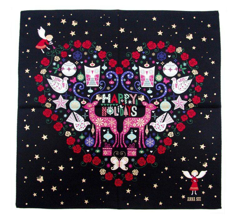 Anna Sui耶誕繽紛天使手帕,價格未定。圖/Anna Sui提供