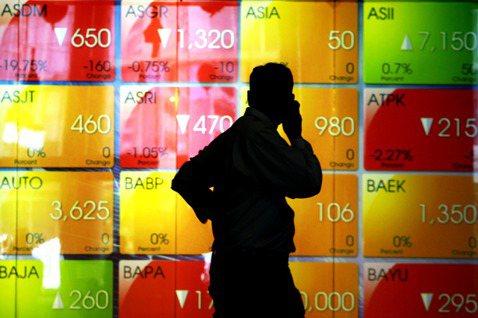 印尼股票市場。圖/歐新社