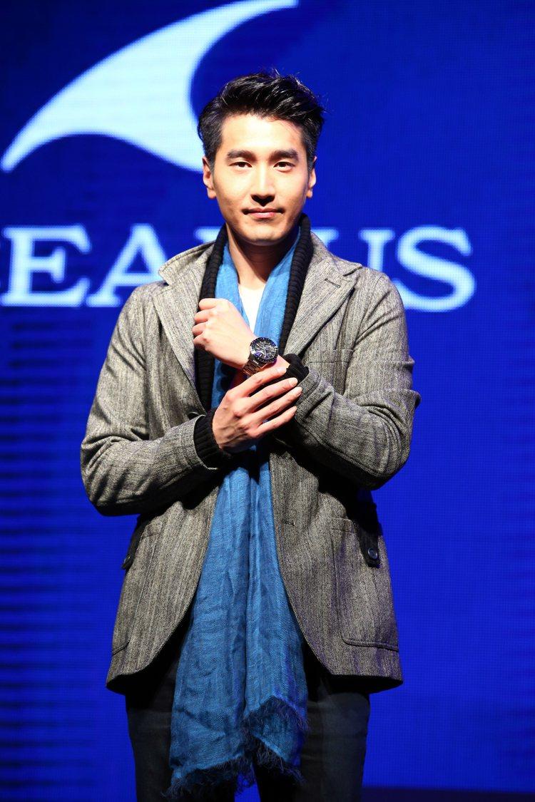 趙又廷昨天出席卡西歐雙品牌OCEANUS & G-SHOCK新品發表會。記者陳柏...