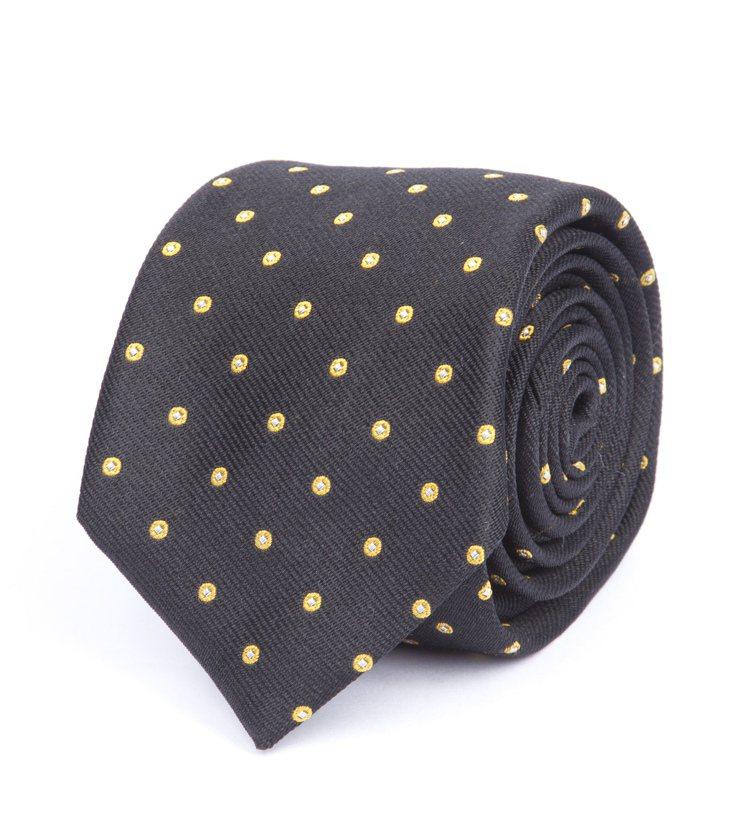 rag & bone 黃色圓圈稜形相接花紋領帶,價格6,000元。圖/rag &...