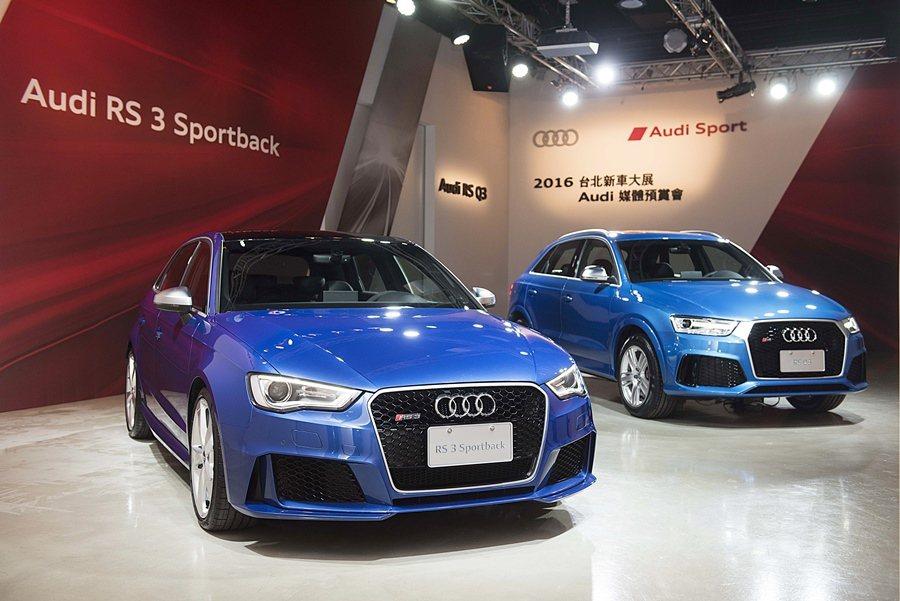 AUDI趕在年底新車大展開幕前,再推出RS3 Sportback性能掀背房車和R...