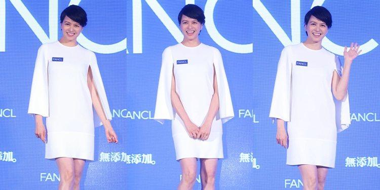 防腐劑退散!梁詠琪公開FANCL無添加保養術。記者陳易辰/攝影