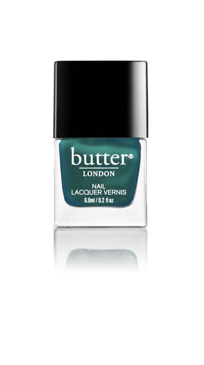 butter LONDON金屬綠的Peep Hole色。圖/butter LON...