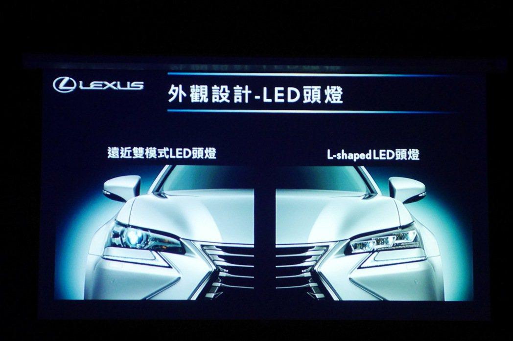 全車系均換上LED頭燈,並於頂級及F SPORT車型配置更高等級的L-shape...