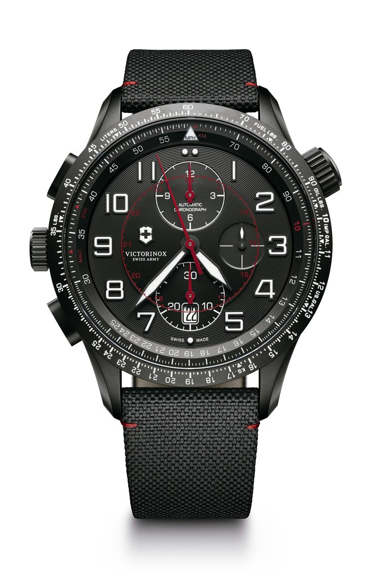 Airboss MACH 9 Black Edition自動上鏈機械計時碼表,價...