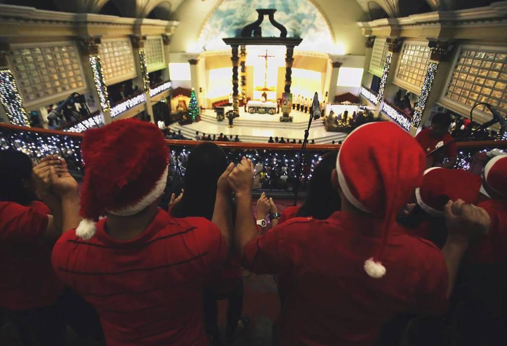 Maligayang Pasko!是菲律賓語的耶誕快樂喔!圖/美聯社