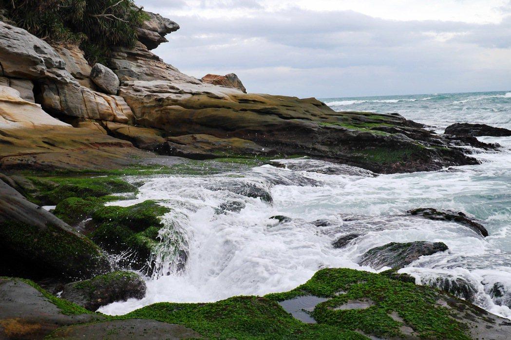 神秘海岸可以近距離欣賞海浪景致。 記者陳威任/攝影