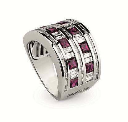 Belle Epoque美好年代系列戒指,白K金鑲嵌鑽石與紅寶石,43萬4,00...