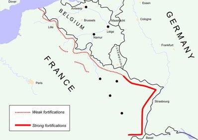 馬其諾防線示意圖。 圖/維基共享