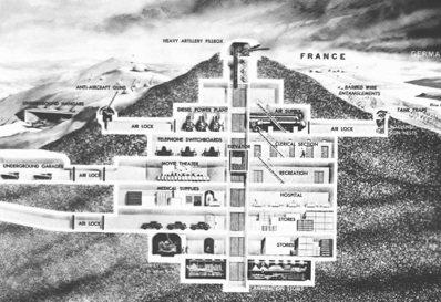 從馬其諾防線的設計圖中,看得出法國人對這種如科幻小說般的巨大防禦工事抱有憧憬。 ...