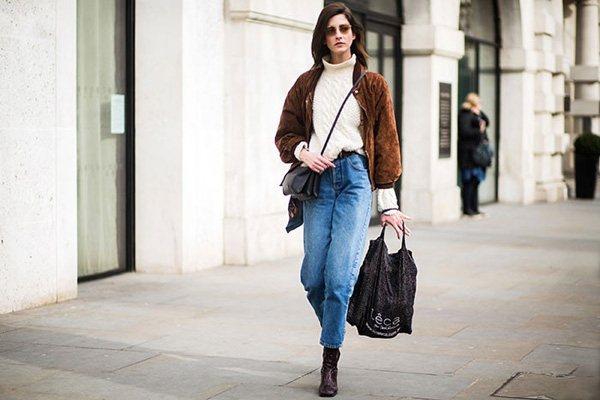 九分褲與冬日靴子可以輕鬆營造帥氣感,加上保暖的高領毛衣和小外套,不僅把比例修飾的...