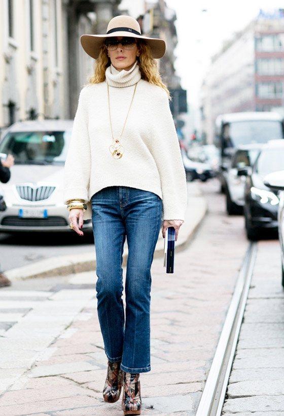 毛衣鏈巧妙地將單調的搭配注入新鮮的活力。圖文:悅己網