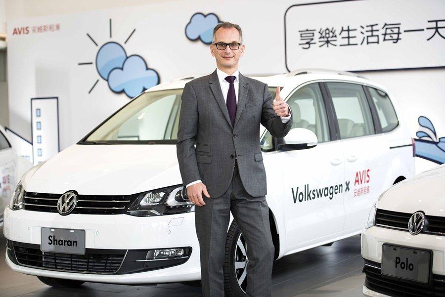 台灣福斯汽車總裁霍班德表示,未來將提供9種福斯新車給AVIS使用者。