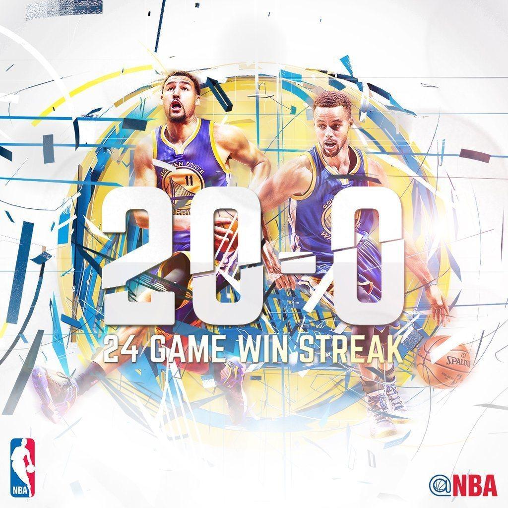 勇士開季以來超過20勝。 NBA