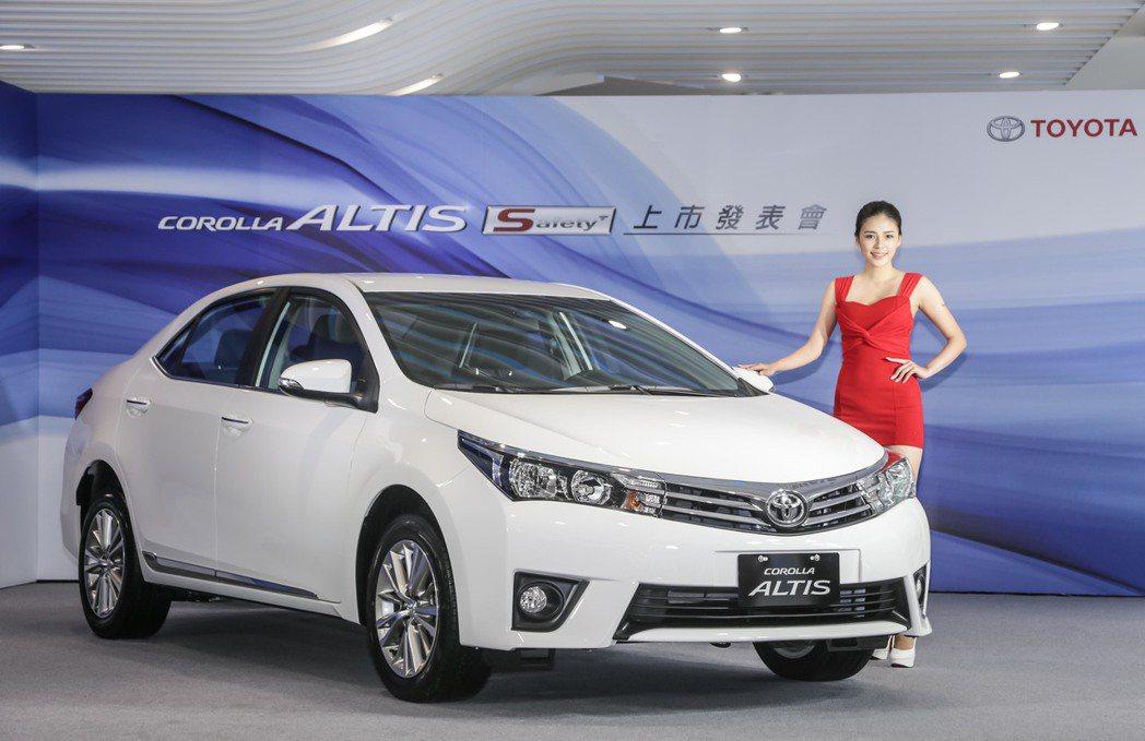 Toyota今年9月推出了升級九項安全配備的 Altis Safety+特仕版,也帶動車系銷售數字。 圖/和泰汽車提供