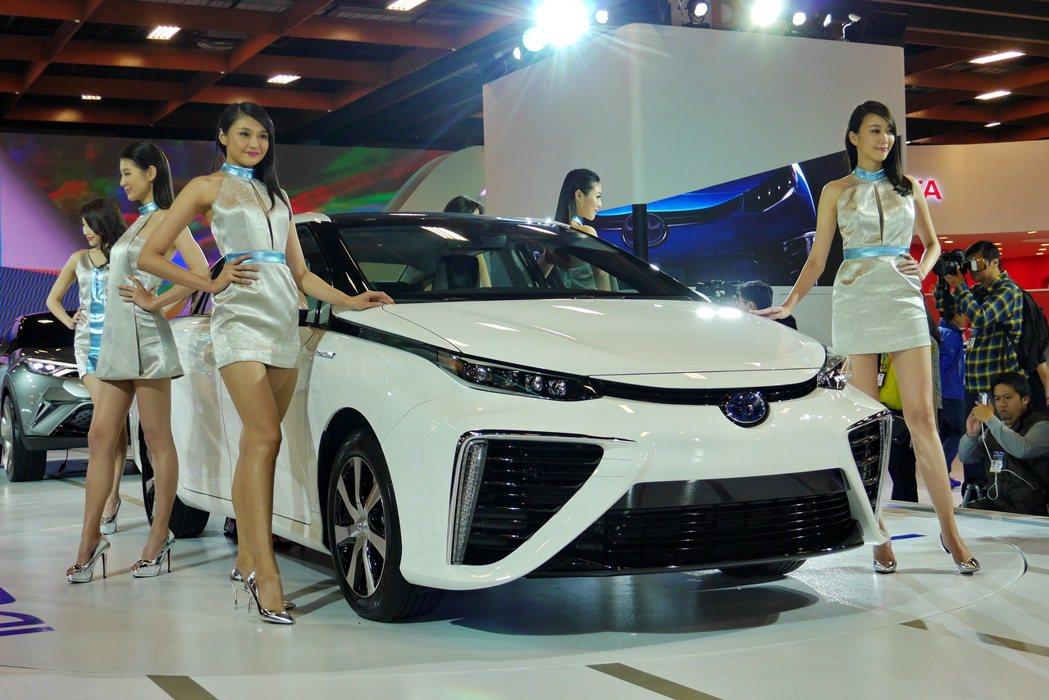 TOYOTA今年將在世貿一館以「Always a better way to MIRAI」作為主題,展出首度來台的氫燃料電池車MIRAI(未來)。 記者陳威任/攝影